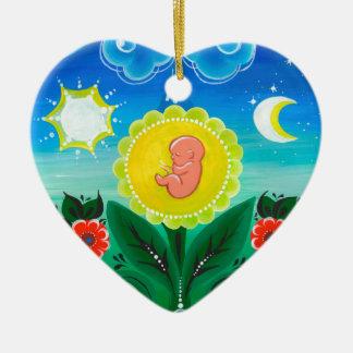 Ornamento De Cerâmica Milagre da vida