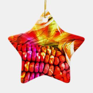 Ornamento De Cerâmica milho listrado quente