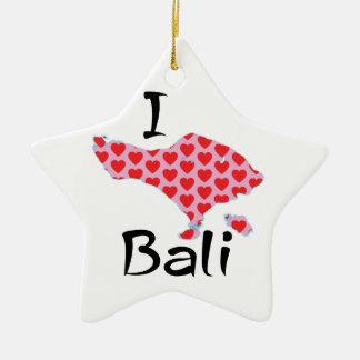 Ornamento De Cerâmica Mim coração Bali