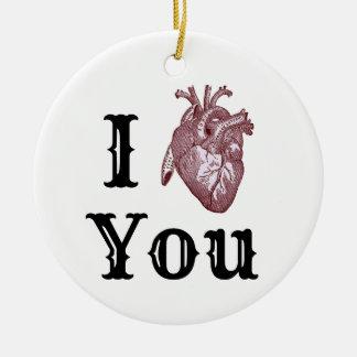Ornamento De Cerâmica Mim coração você