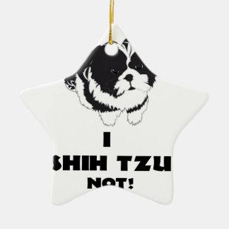 Ornamento De Cerâmica mim design do futz do shah não