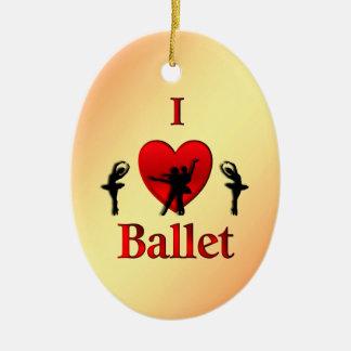 Ornamento De Cerâmica Mim Natal do balé do coração