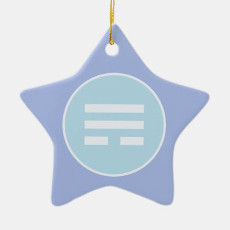 Ornamento De Cerâmica Mim Trigram do vento de Ching (Xun)