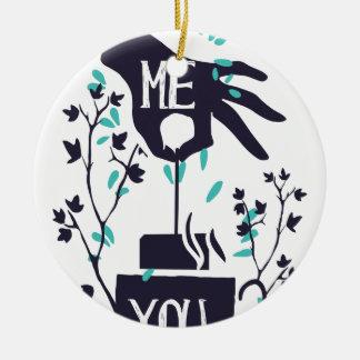 Ornamento De Cerâmica Mim você design do amor
