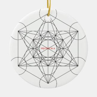 Ornamento De Cerâmica minha caixa é… O cubo de Metatron