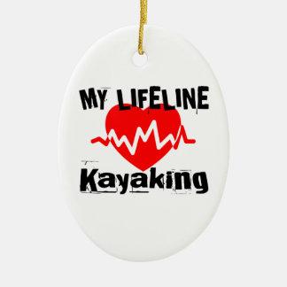 Ornamento De Cerâmica Minha linha de vida design Kayaking dos esportes