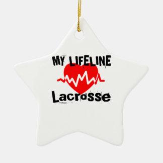 Ornamento De Cerâmica Minha linha de vida Lacrosse ostenta o design