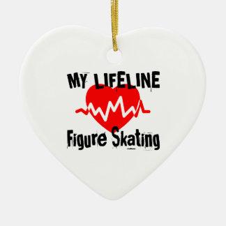 Ornamento De Cerâmica Minha linha de vida patinagem artística ostenta o