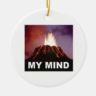 Ornamento De Cerâmica minha mente do vulcão