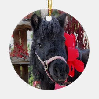 Ornamento De Cerâmica Mini-cavalo preto