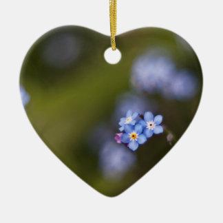 Ornamento De Cerâmica Minúsculo esqueça-me não flor