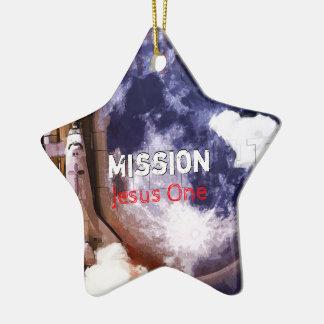 Ornamento De Cerâmica Missão Jesus um