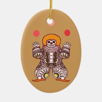 Ornamento De Cerâmica Mnanipulação do palhaço