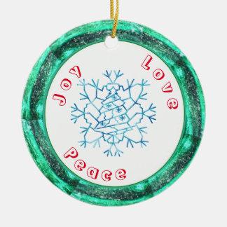 Ornamento De Cerâmica Modelo da árvore do floco de neve