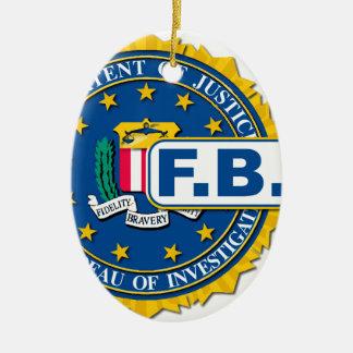 Ornamento De Cerâmica Modelo do selo do FBI