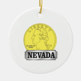 Ornamento De Cerâmica Moeda de ouro de Nevada