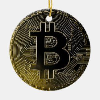 Ornamento De Cerâmica Moedas de Bitcoin