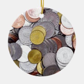 Ornamento De Cerâmica Moedas romenas da moeda