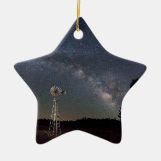 Ornamento De Cerâmica Moinho de vento da Via Láctea
