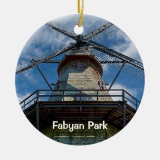 Ornamento De Cerâmica Moinho holandês da blusa do parque de Fabyan