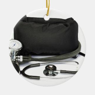 Ornamento De Cerâmica Monitor profissional preto da pressão sanguínea no
