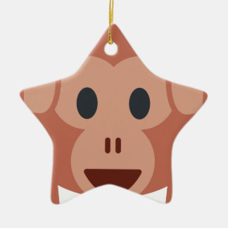 Ornamento De Cerâmica Monkey emoji