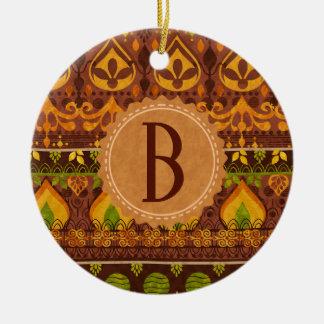 Ornamento De Cerâmica Monograma tribal étnico