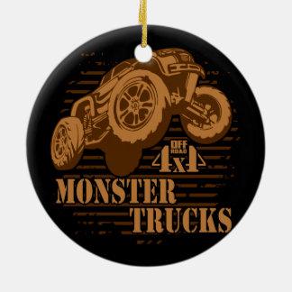Ornamento De Cerâmica Monster truck 4x4 fora da estrada