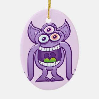 Ornamento De Cerâmica monstro estrangeiro Três-eyed que ri perniciosa