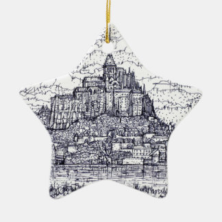 Ornamento De Cerâmica mont santo-Michel