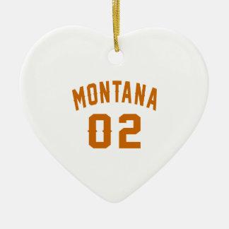 Ornamento De Cerâmica Montana 02 designs do aniversário