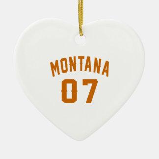 Ornamento De Cerâmica Montana 07 designs do aniversário