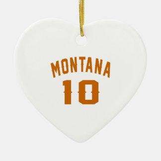 Ornamento De Cerâmica Montana 10 designs do aniversário