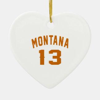 Ornamento De Cerâmica Montana 13 designs do aniversário