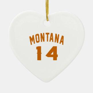 Ornamento De Cerâmica Montana 14 designs do aniversário