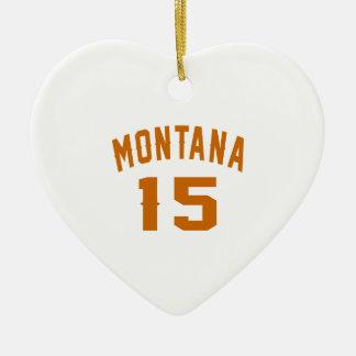 Ornamento De Cerâmica Montana 15 designs do aniversário