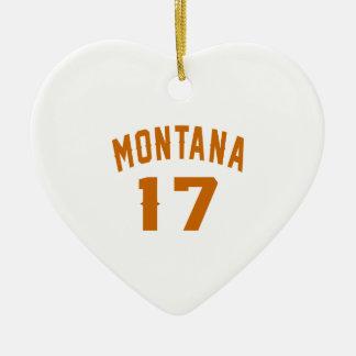Ornamento De Cerâmica Montana 17 designs do aniversário
