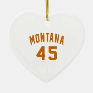 Ornamento De Cerâmica Montana 45 designs do aniversário