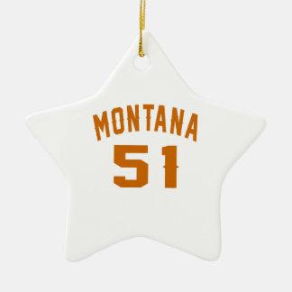 Ornamento De Cerâmica Montana 51 designs do aniversário