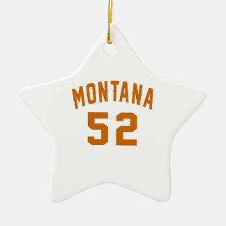 Ornamento De Cerâmica Montana 52 designs do aniversário
