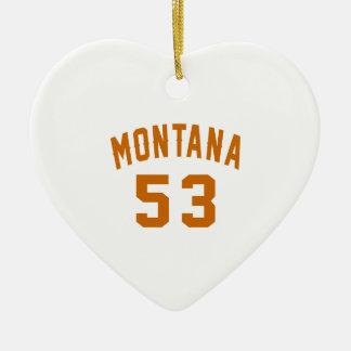 Ornamento De Cerâmica Montana 53 designs do aniversário