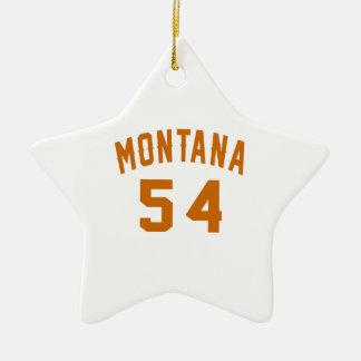 Ornamento De Cerâmica Montana 54 designs do aniversário