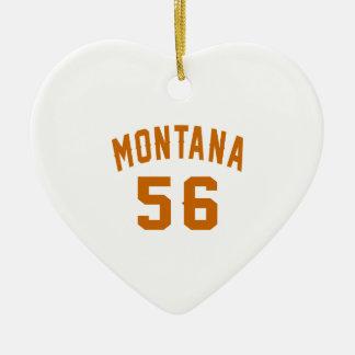 Ornamento De Cerâmica Montana 56 designs do aniversário