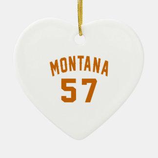 Ornamento De Cerâmica Montana 57 designs do aniversário