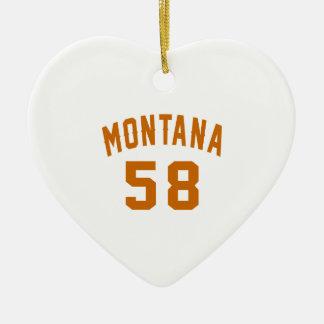Ornamento De Cerâmica Montana 58 designs do aniversário