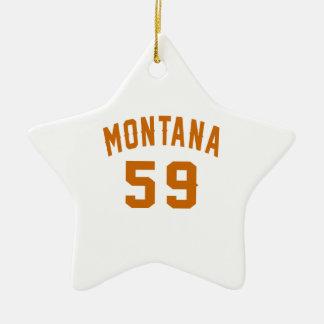 Ornamento De Cerâmica Montana 59 designs do aniversário