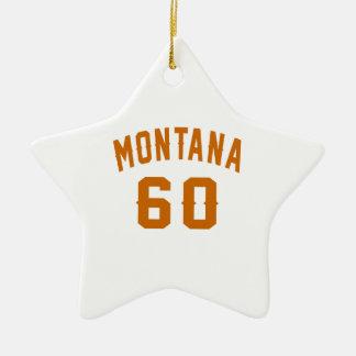 Ornamento De Cerâmica Montana 60 designs do aniversário