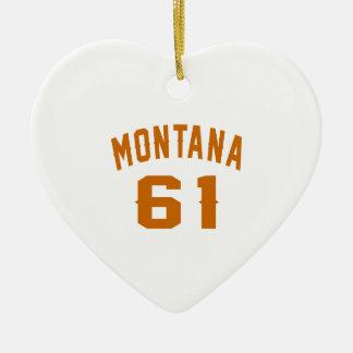 Ornamento De Cerâmica Montana 61 designs do aniversário