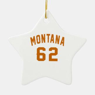 Ornamento De Cerâmica Montana 62 designs do aniversário