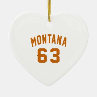 Ornamento De Cerâmica Montana 63 designs do aniversário